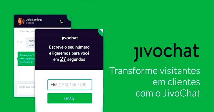 Transforme visitantes em clientes com o JivoChat